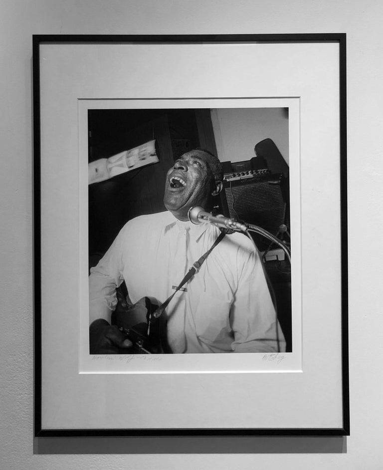 Blues Great Howlin' Wolf, Chicago 1966, Framed Black and White Photo by Art Shay For Sale 1