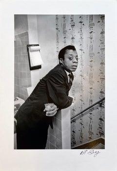 James Baldwin Standing, Deerfield, IL 1959, Deerfield Integration Rally