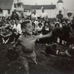 Kid Boxing, 1952, Black and White Photograph, Signed and Framed