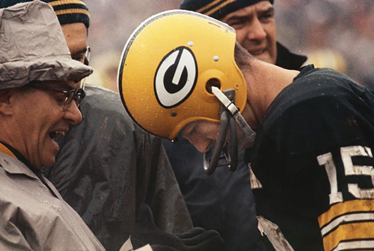 Art Shay Black and White Photograph - Lombardi Bawling Out Bart Starr, 1966