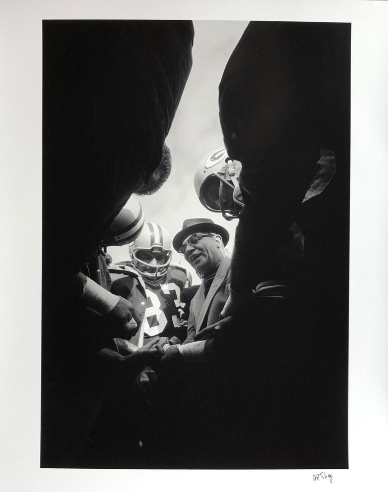 Lombardi Huddle, Green Bay Packer Coach Vince Lombardi 1966 by Art Shay For Sale 1