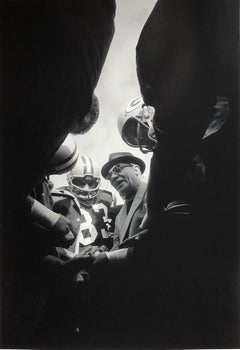 Lombardi Huddle, Green Bay Packer Coach Vince Lombardi 1966 by Art Shay