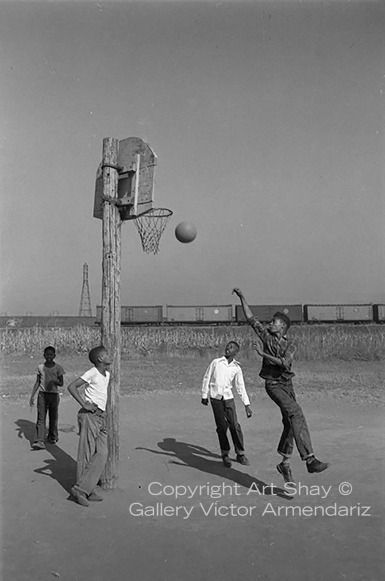 Art Shay Black and White Photograph - Lovejoy AKA Brooklyn, Illinois, Basketball, for Ebony Magazine, 1952