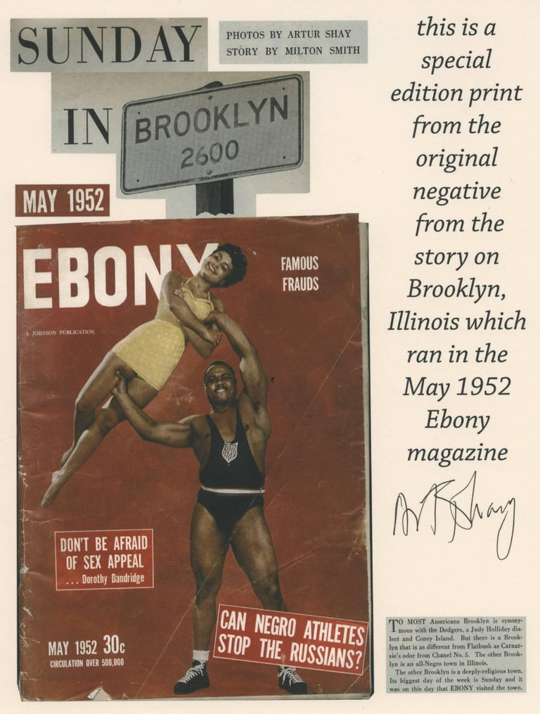 Lovejoy AKA Brooklyn, Illinois, Crossing the Street, for Ebony Magazine, 1952 - Photograph by Art Shay