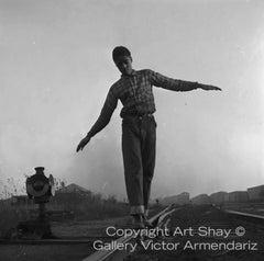 Lovejoy AKA Brooklyn, Illinois, Rail Walker, for Ebony Magazine, 1952
