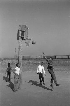 Lovejoy AKA Brooklyn, Illinois, Boys PlayingBasketball for Ebony Magazine, 1952