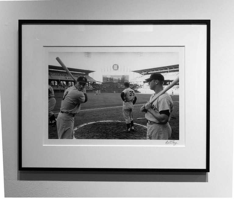 Maris and Mantle, Comisky Park, Chicago 1961, Framed Black & White Photograph - Gray Black and White Photograph by Art Shay