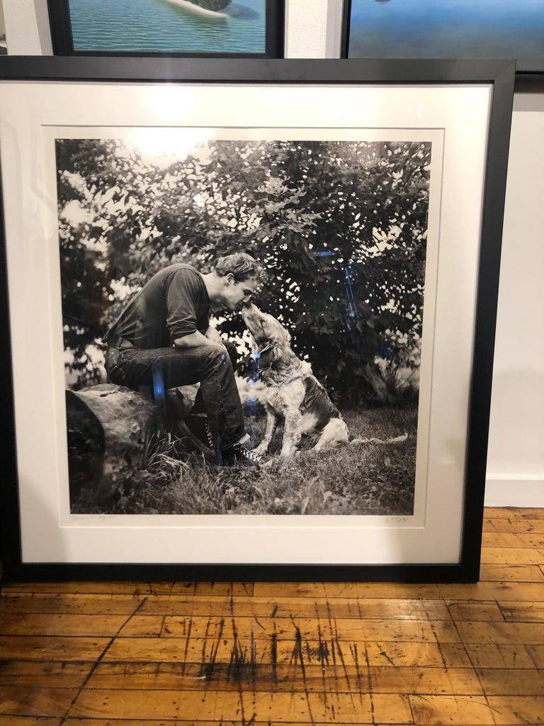 Marlon Brando Kissing Dog, Libertyville, IL 1950 - Large Format Black & White 5