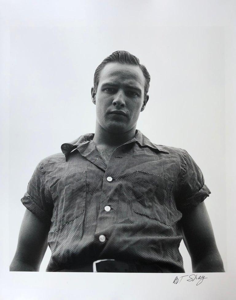 Marlon Brando, Libertyville, Illinois, 1950 - Silver Gelatin Print - Photograph by Art Shay
