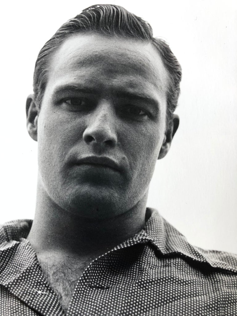 Marlon Brando, Libertyville, Illinois, 1950 - Silver Gelatin Print - Contemporary Photograph by Art Shay