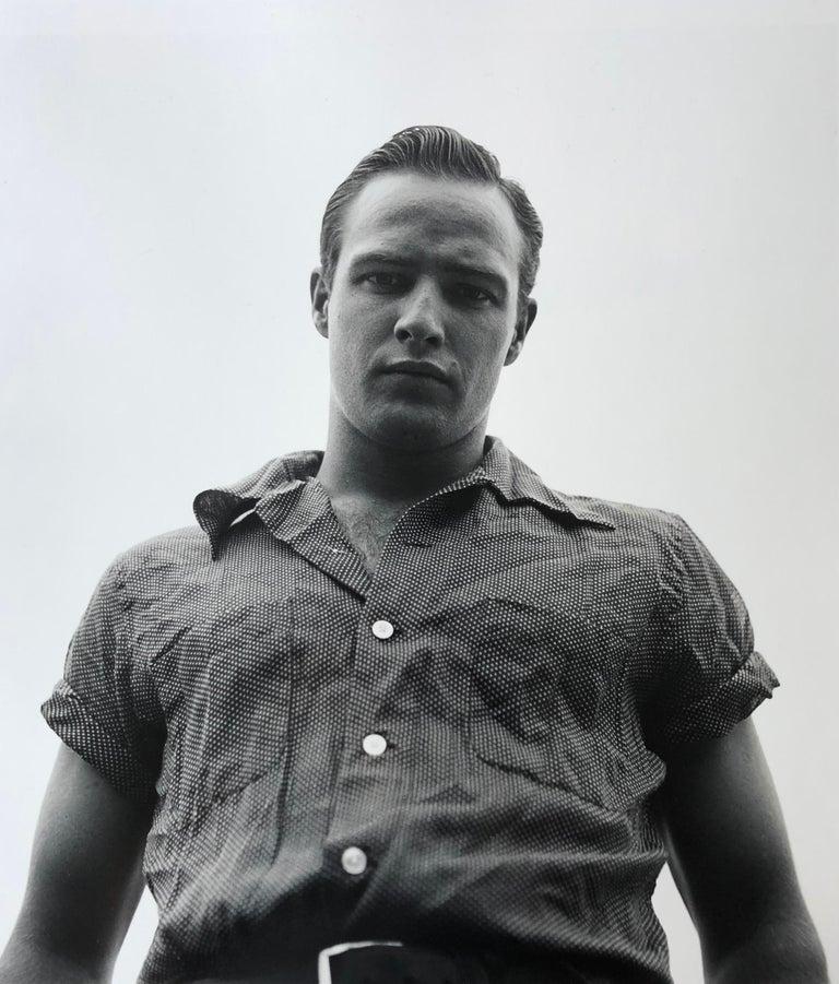 Art Shay Black and White Photograph - Marlon Brando, Libertyville, Illinois, 1950 - Silver Gelatin Print