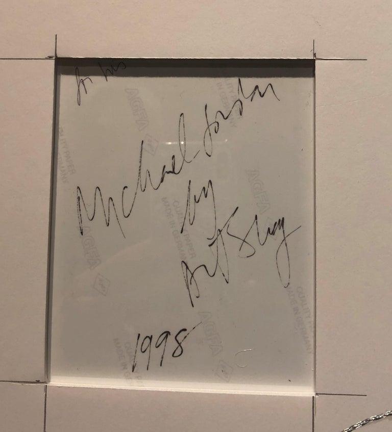 Basketball Great Michael Jordan, 1998, Framed Color Photograph, Signed, Art Shay For Sale 3