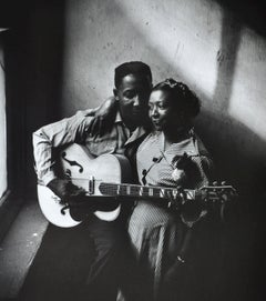 Muddy Waters and His Wife, Geneva, 1951, Black and White Photography, Framed