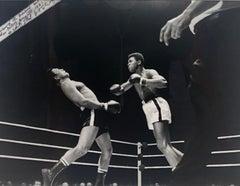 Muhammad Ali TKO Punch vs Alex Miteff, Louisville 1961, Black & White Photo