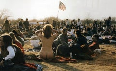 Nakedly Patriotic, 1970, Peaceful Gathering, Nude Female, Archival Pigment Print