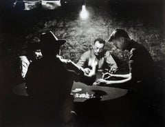 The Man With the Golden Arm, 1949, Nelson Algren as the Dealer, Silver Gelatin