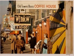 Old Town's Boss Coffee Shop, Chicago 1970, Color Photograph, Signed & Framed