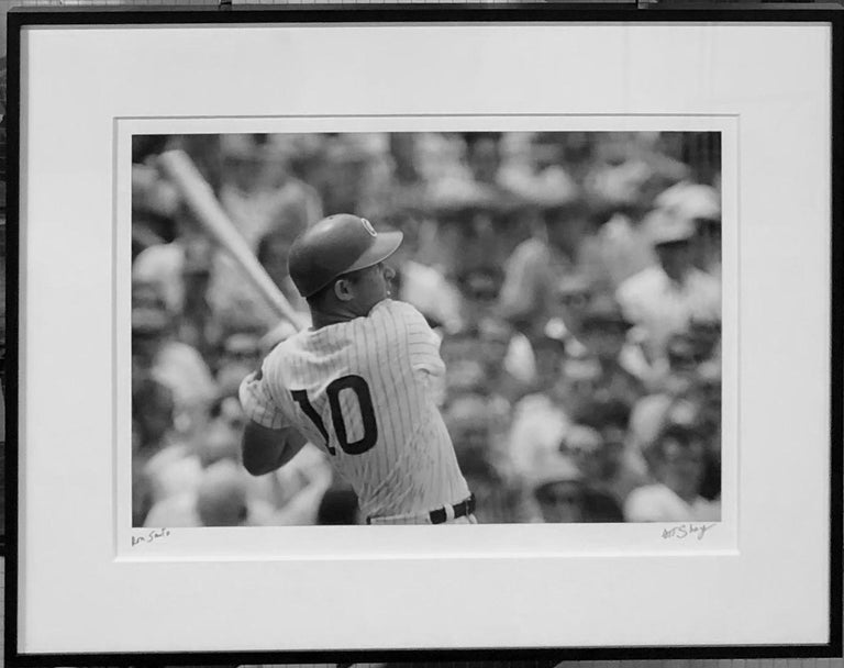 Ron Santo, 1967 - Black and White Baseball Photograph by Art Shay For Sale 1