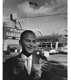 Smiling Ray Kroc, 1965, McDonald's First Franchise in Des Plaines, IL, Framed