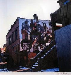 Teen Town, Urban Mural, Chicago, 1968, Archival Pigment Print