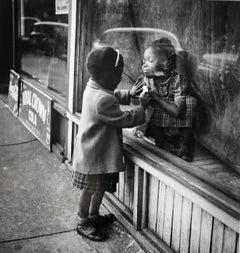 Twins, Lovejoy AKA Brooklyn, Illinois, for Ebony Magazine, 1952, Silver Gelatin