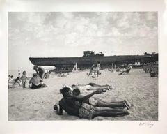 U505 Submarine Crossing Lake Shore Dr, Chicago, 1954, Black & White Photo