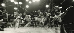 Wrassle Mania, 1975, Multi-Exposure Black and White Photograph, Framed, Signed