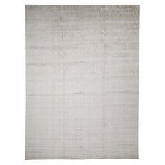 Art Silk Hand-Loomed Tone on Tone Oriental Rug