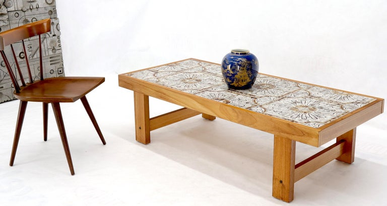 Rectangular midcentury Danish modern coffee table.