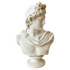 Art Union of London Parian Bust of Apollo Belvedere, by C. Delpech, 1861
