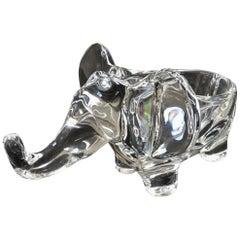 Art Vannes Crystal Elephant Dish