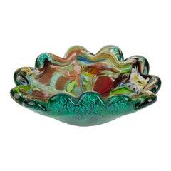 Art Vetrairia Muranese AVEM Murano Tutti Frutti Art Glass Dish, circa 1950