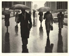 Cloudburst (An army of umbrellas march down Fifth Avenue in New York City)