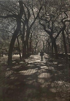 Follow, mezzotint of New York sidewalk by Art Werger
