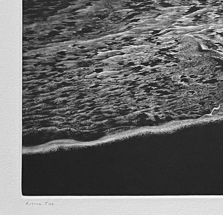 Rising Tide - Black Landscape Print by Art Werger