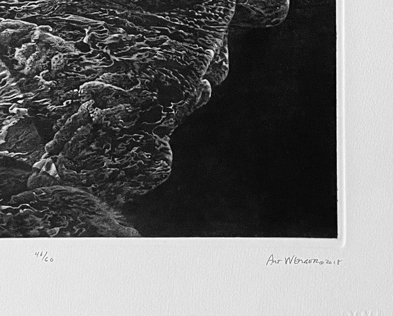 The Act of Forgetting - Black Landscape Print by Art Werger