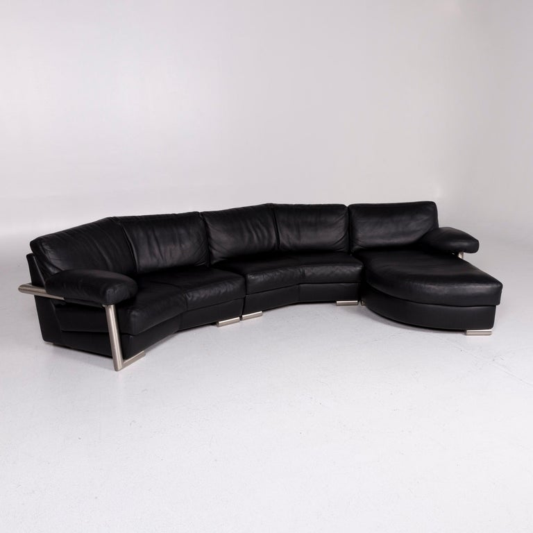 We bring to you an Artanova Medea leather corner sofa black sofa couch.     Product measurements in centimeters:    Depth 90 Width 360 Height 77 Seat-height 44 Rest-height 60 Seat-depth 53 Seat-width 240 Back-height 37.