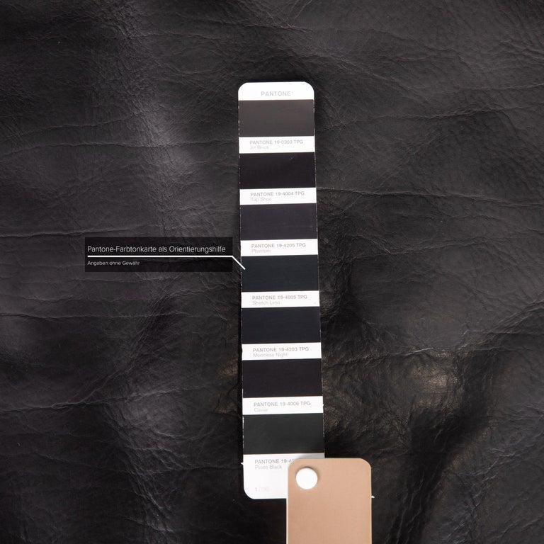 Artanova Medea Leather Sofa Black Corner Sofa Black Couch Headrest In Excellent Condition For Sale In Cologne, DE
