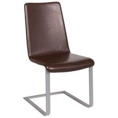 Artanova Uranos Leather Chair Brown Armchair