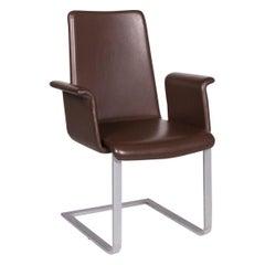 Artanova Uranos Leather Chair Set Brown Armchair