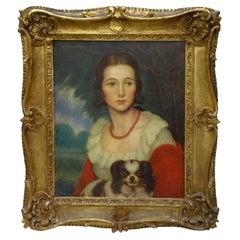 Artdeco American Painting, Portrait of Madame Valére