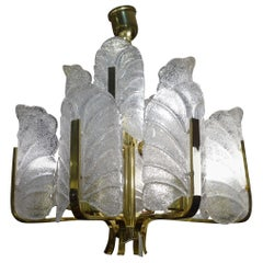 Art Deco Carl Fagerlund Chandelier for Orrefors, 1930s Sweden