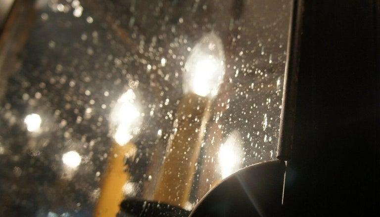 Arte De Mexico Spanish Tuscan Iron Carriage Lantern Chandelier 8 Light Rustic For Sale 1
