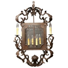 Arte De Mexico Spanish Tuscan Iron Carriage Lantern Chandelier 8 Light Rustic
