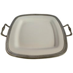 Arte Italica Made in Italy Large Platter with Silver Handles Serveware