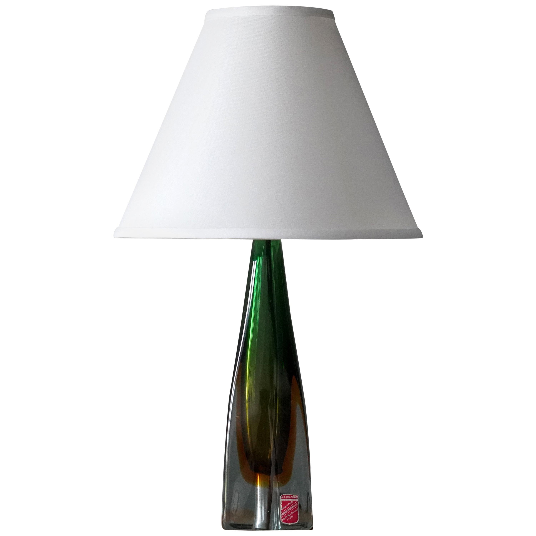 Arte Nuova, Murano, Organic Table Lamp, Blown Colored Venetian Glass Italy 1950s