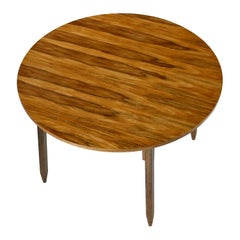 "Arte Sano White Walnut ""Butternut"" Round Dining Table Made in Colombia"