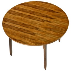"""Arte Sano White Walnut """"Butternut"""" Round Dining Table Made in Colombia"""