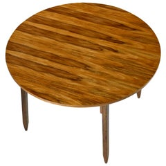 "Arte Sano White Walnut ""Butternut"" Round Dining Table, Made in Colombia"