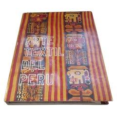 Arte Textil del Peru Decorating Vintage Hardcover Book in Spanish